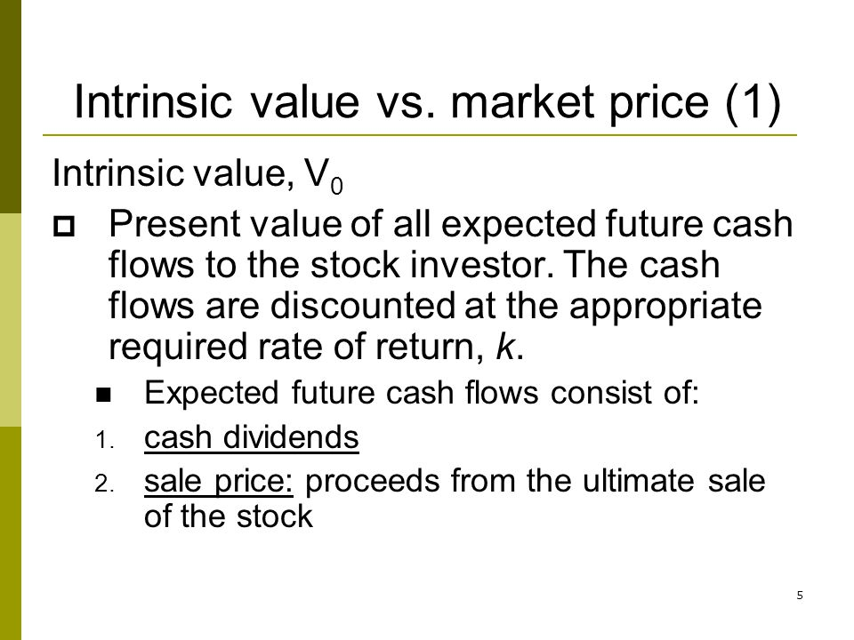 Intrinsic value vs. market price (1)