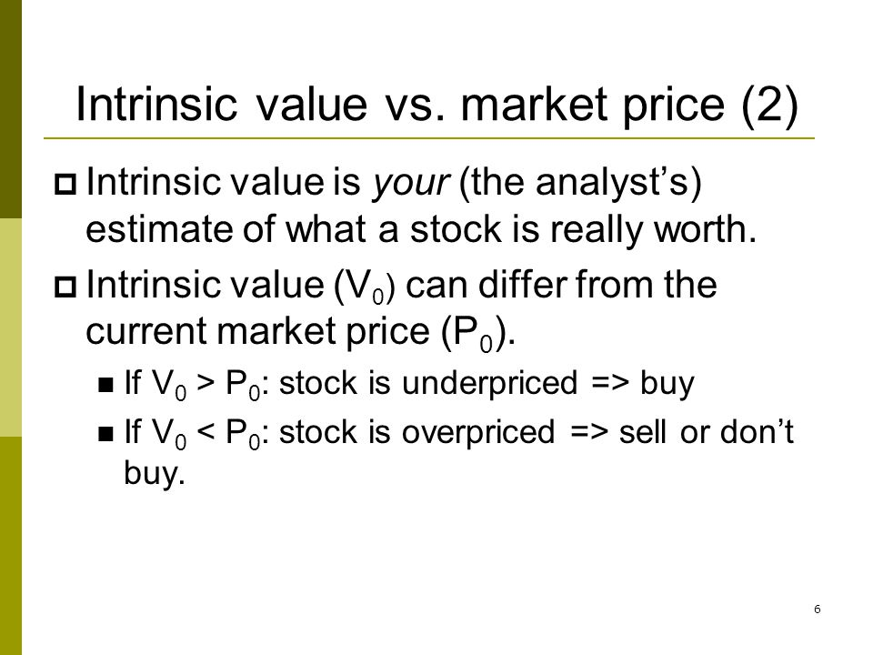 Intrinsic value vs. market price (2)
