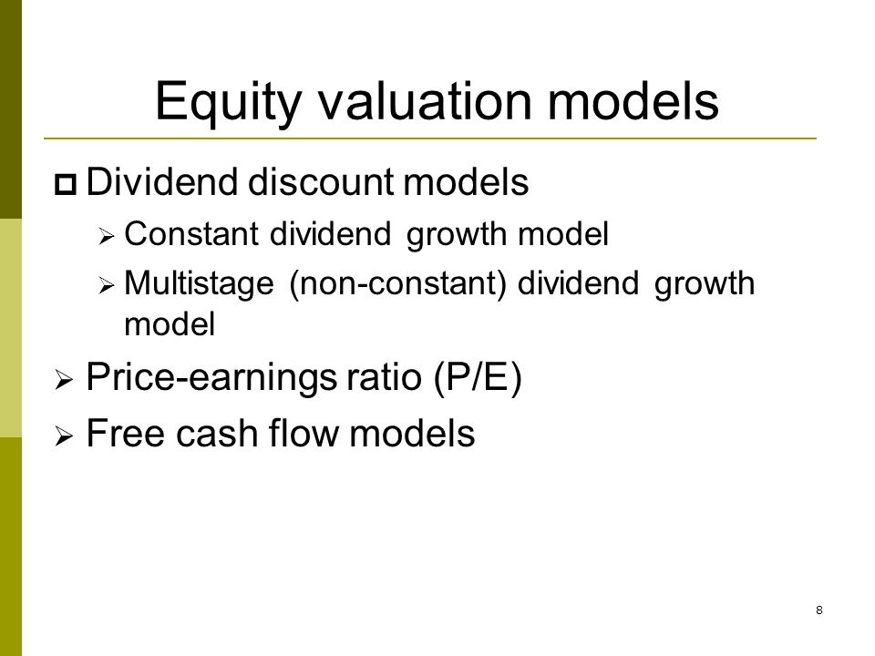 dividend valuation models disadvantage Valuation, various methods, their advantages, disadvantages and issues   valuation models: discounted dividend, free cash flow to equity,.