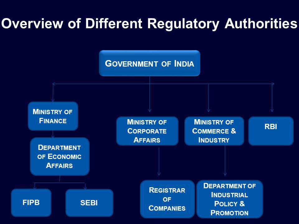 Key Regulatory Authorities