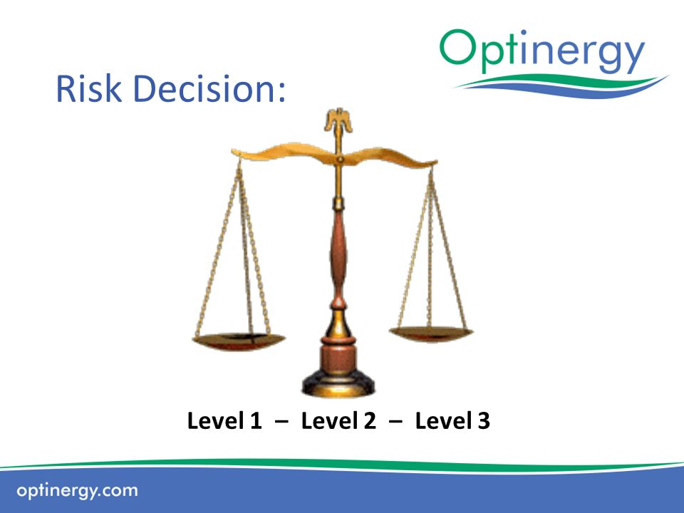 Risk Decision: Level 1 – Level 2 – Level 3