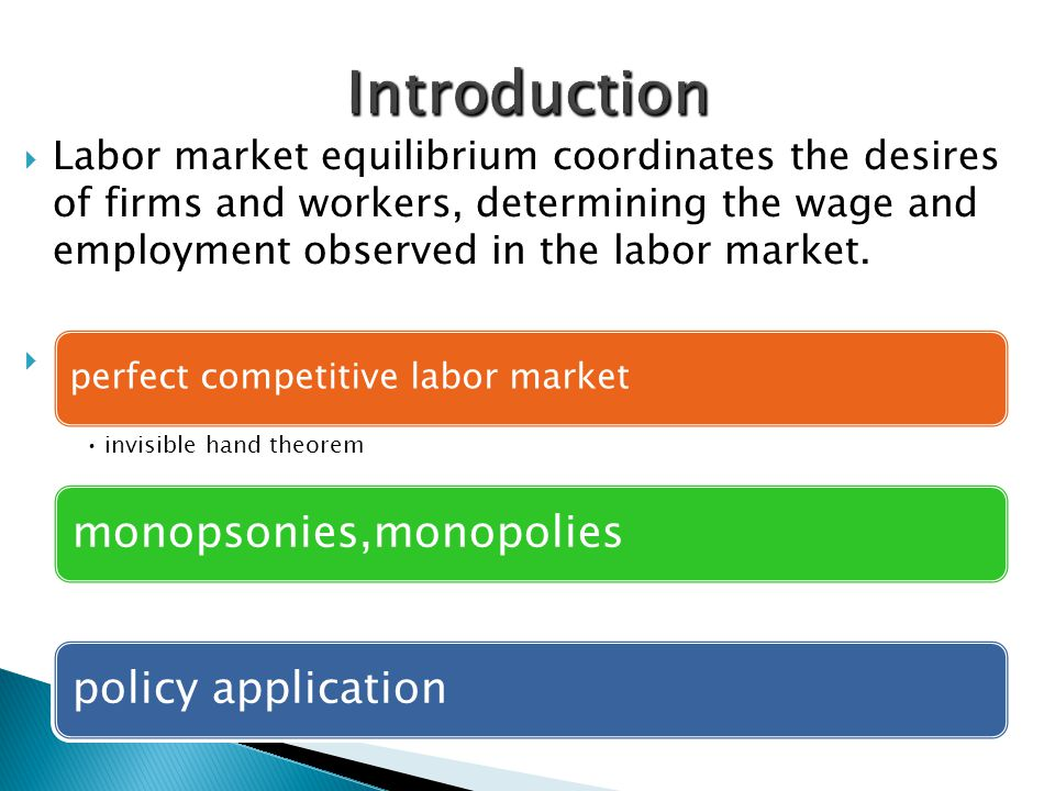 Introduction monopsonies,monopolies policy application