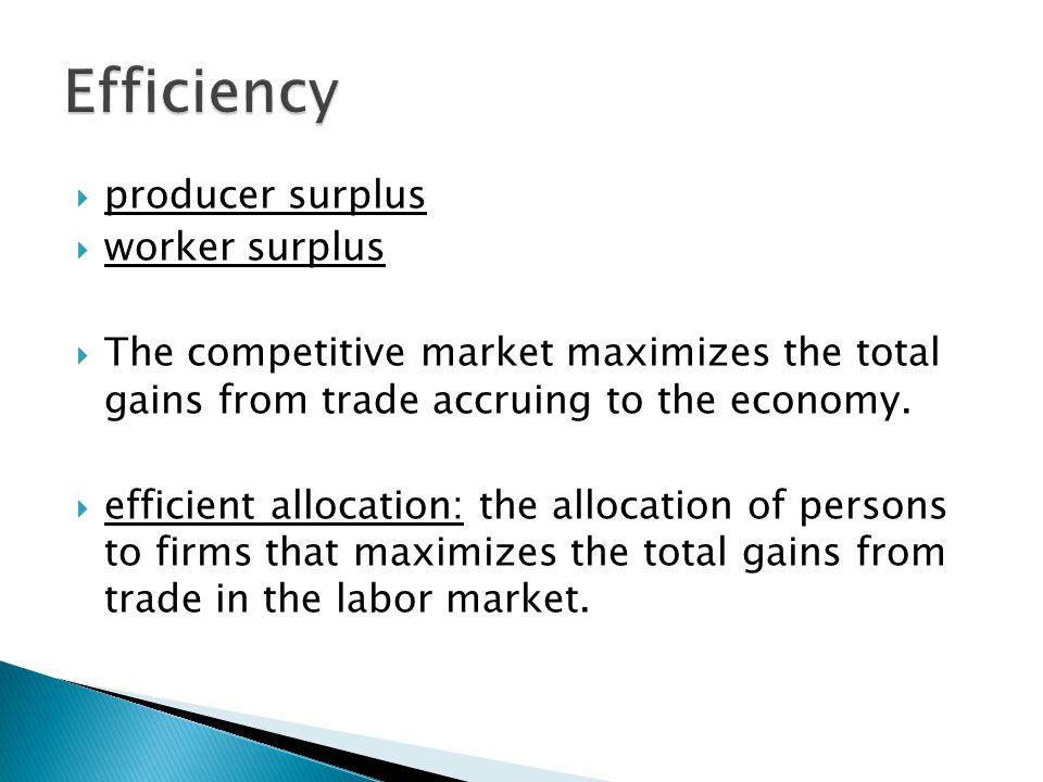 Efficiency producer surplus worker surplus