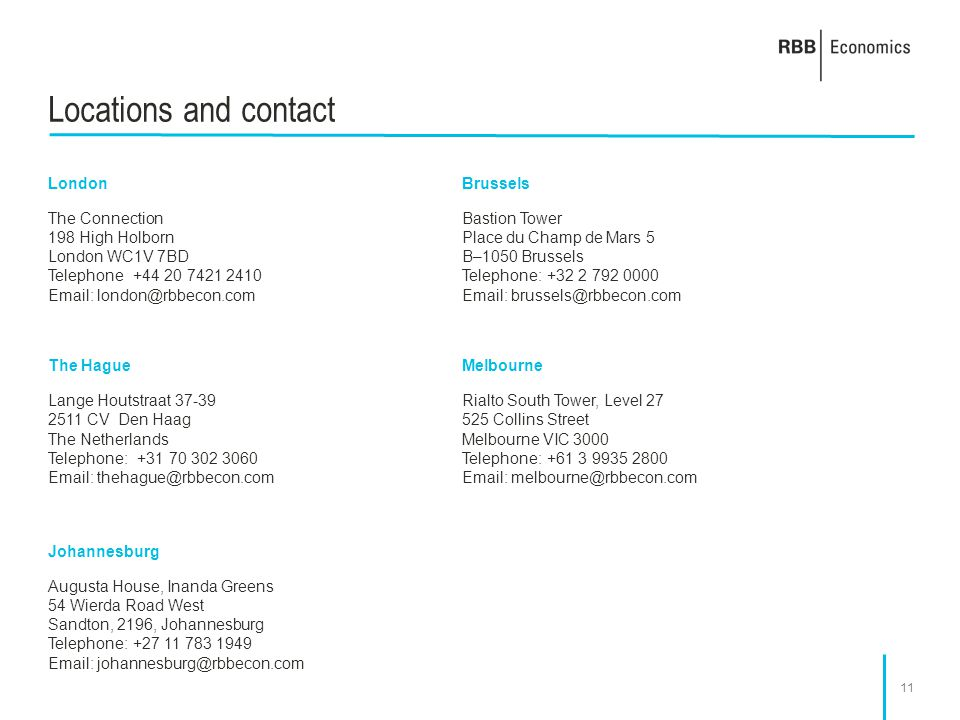 Locations and contact