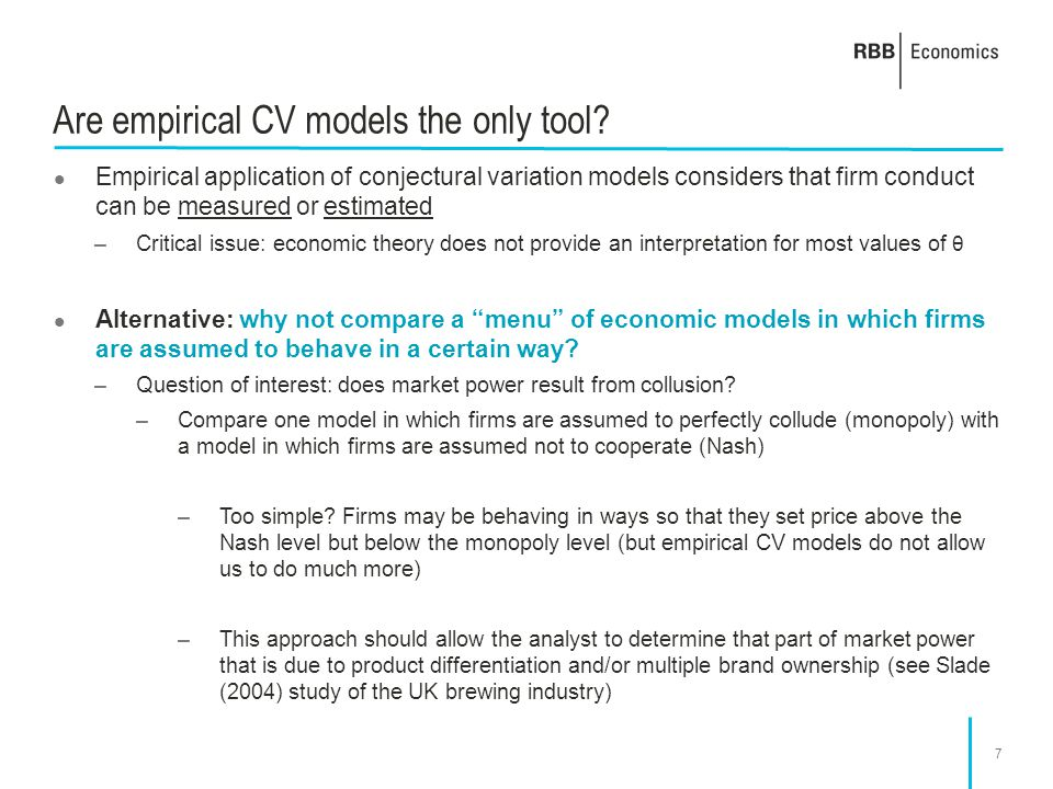 Are empirical CV models the only tool