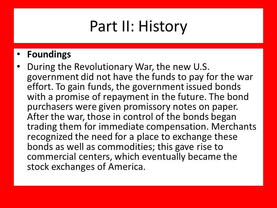 Part II: History Foundings