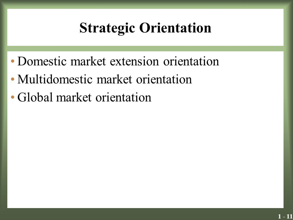 Strategic Orientation