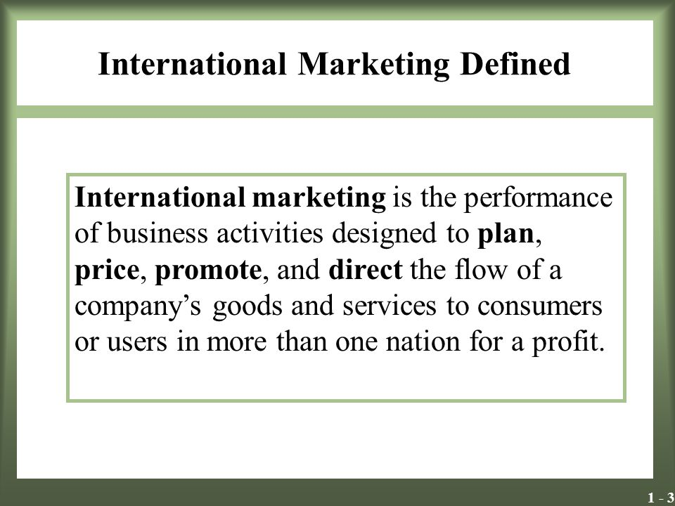 International Marketing Defined