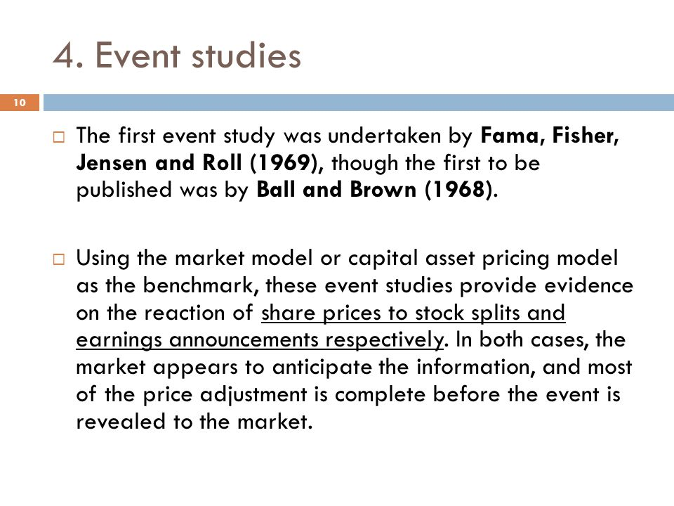 4. Event studies