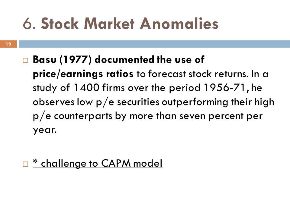 6. Stock Market Anomalies