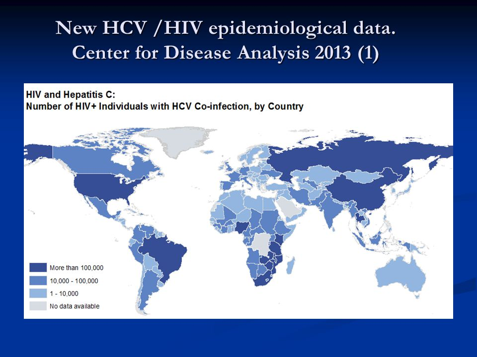 New HCV /HIV epidemiological data. Center for Disease Analysis 2013 (1)