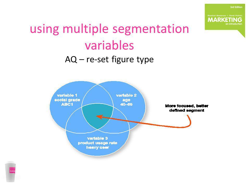 using multiple segmentation variables AQ – re-set figure type