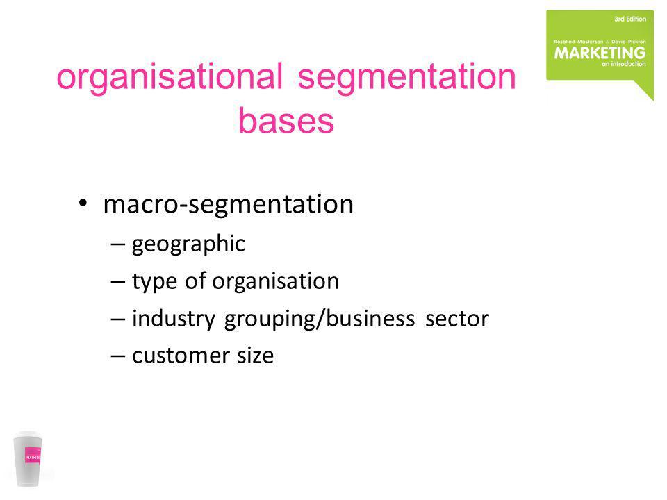 organisational segmentation bases