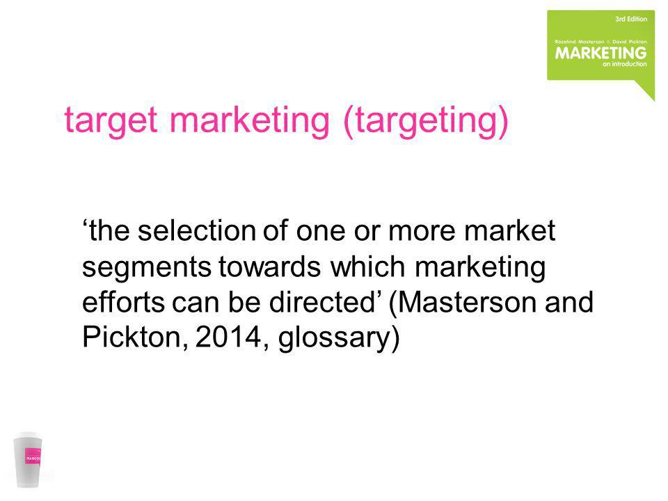 target marketing (targeting)