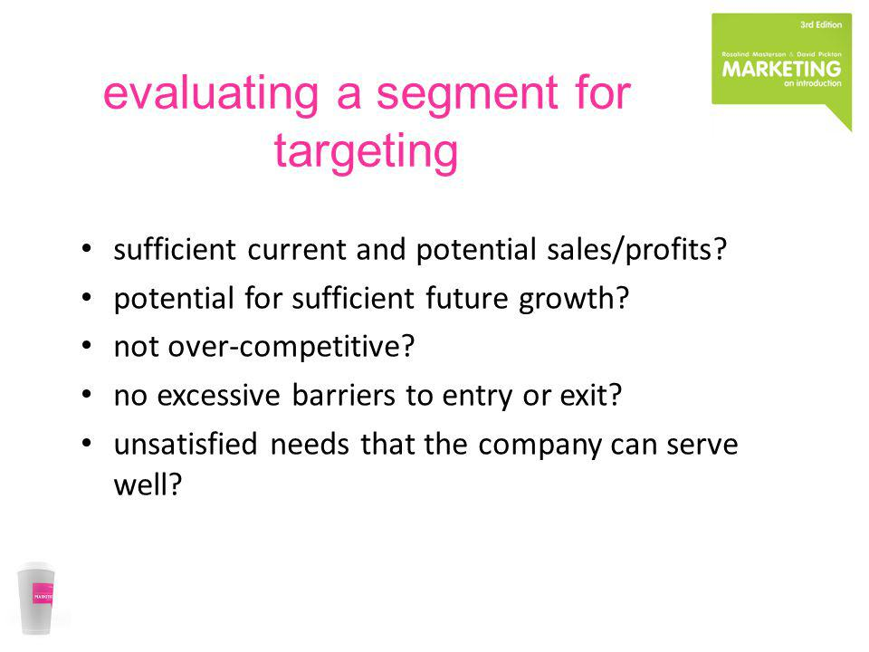 evaluating a segment for targeting