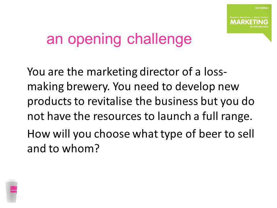 an opening challenge