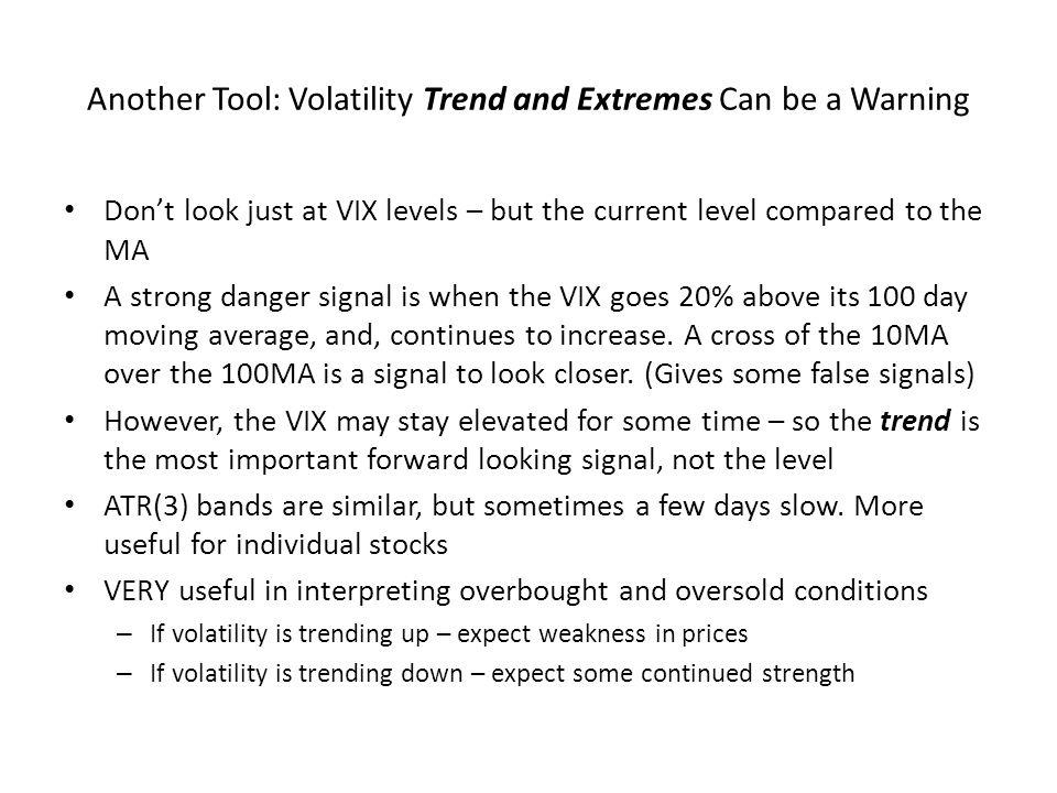 Another Tool: Volatility Trend and Extremes Can be a Warning