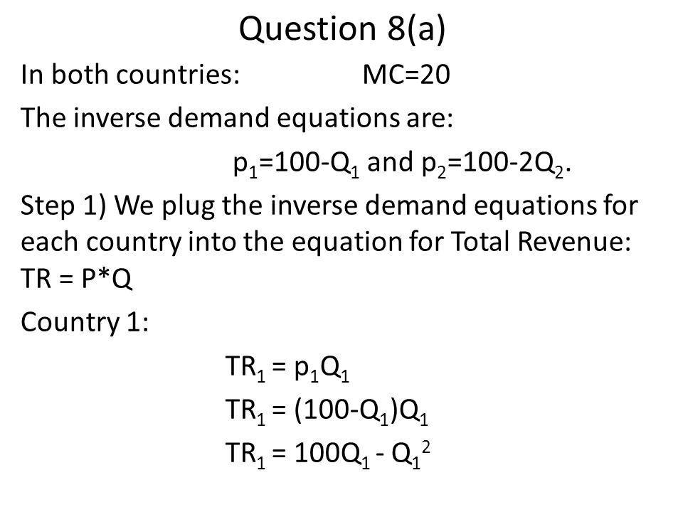 Question 8(a)