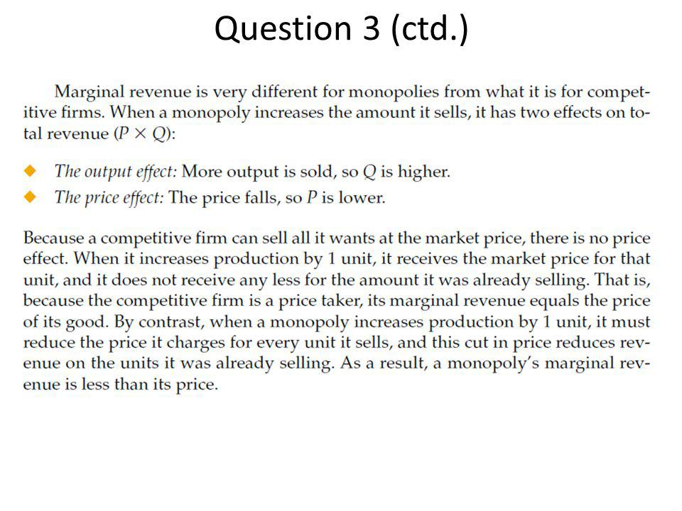 Question 3 (ctd.) See Mankiw pg and Figure 15.4