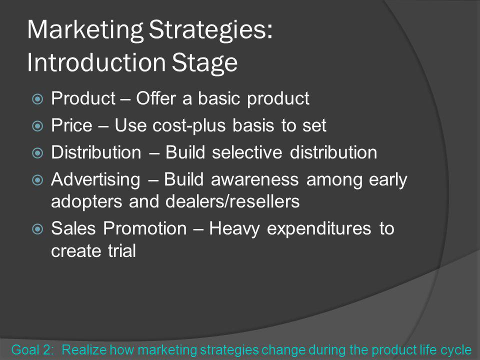 Marketing Strategies: Introduction Stage