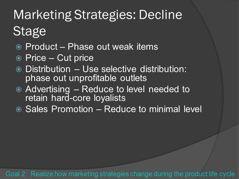 Marketing Strategies: Decline Stage