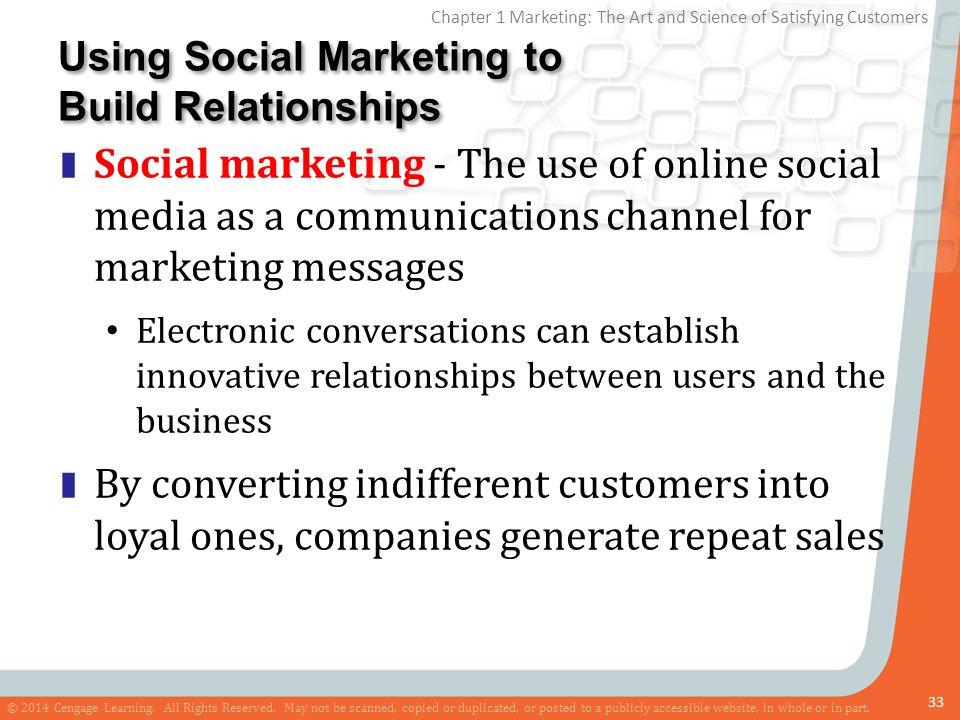 Using Social Marketing to Build Relationships