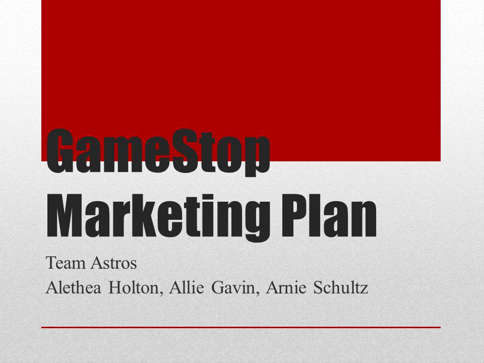 GameStop Marketing Plan