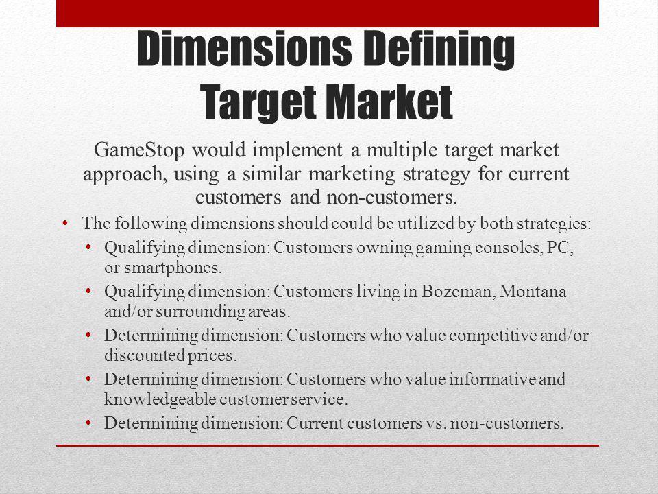 Dimensions Defining Target Market