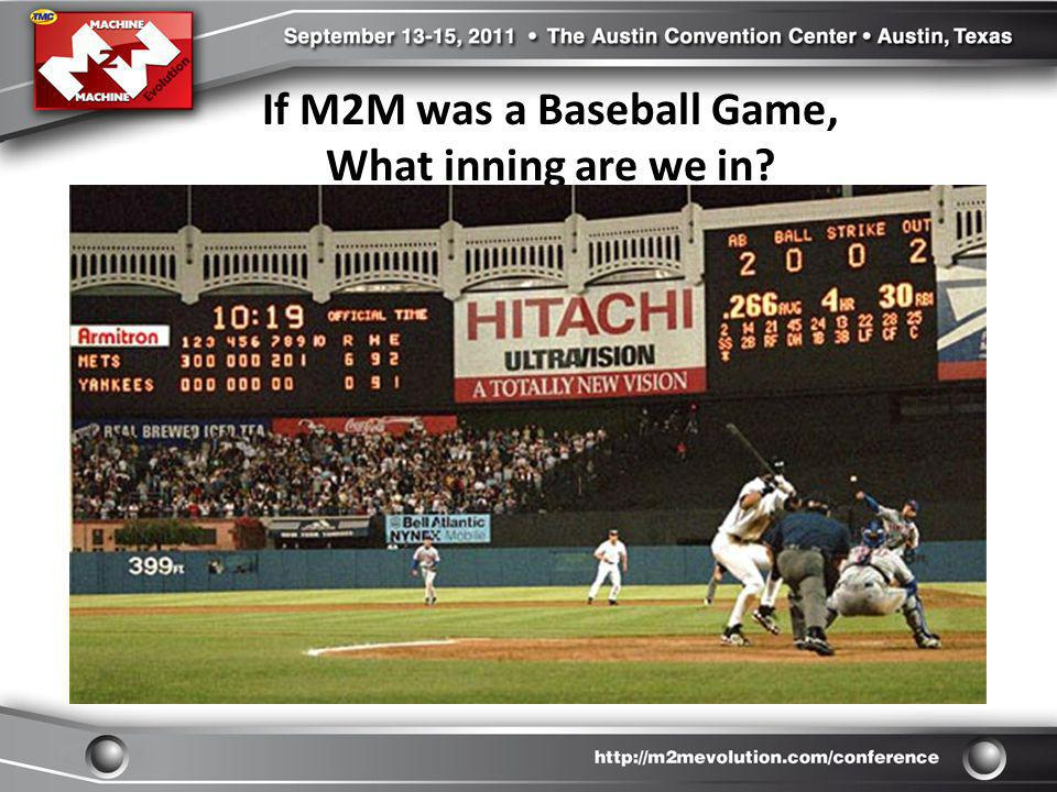 If M2M was a Baseball Game, What inning are we in