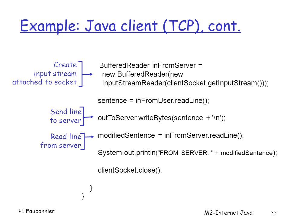 Example: Java client (TCP), cont.