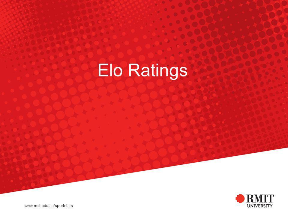 Elo Ratings www.rmit.edu.au/sportstats