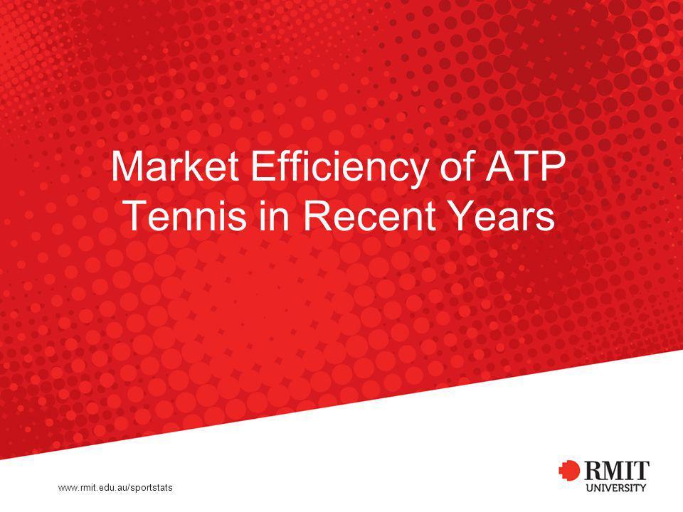 Market Efficiency of ATP Tennis in Recent Years