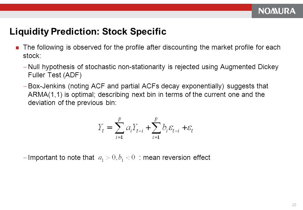 Liquidity Prediction: Stock Specific