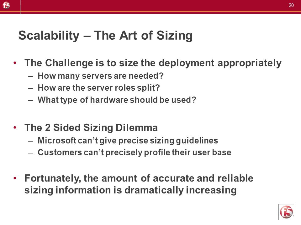 Scalability – The Art of Sizing