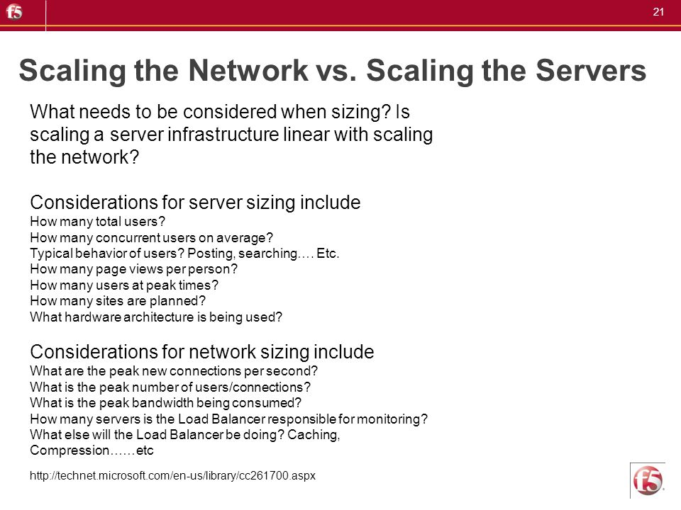Scaling the Network vs. Scaling the Servers
