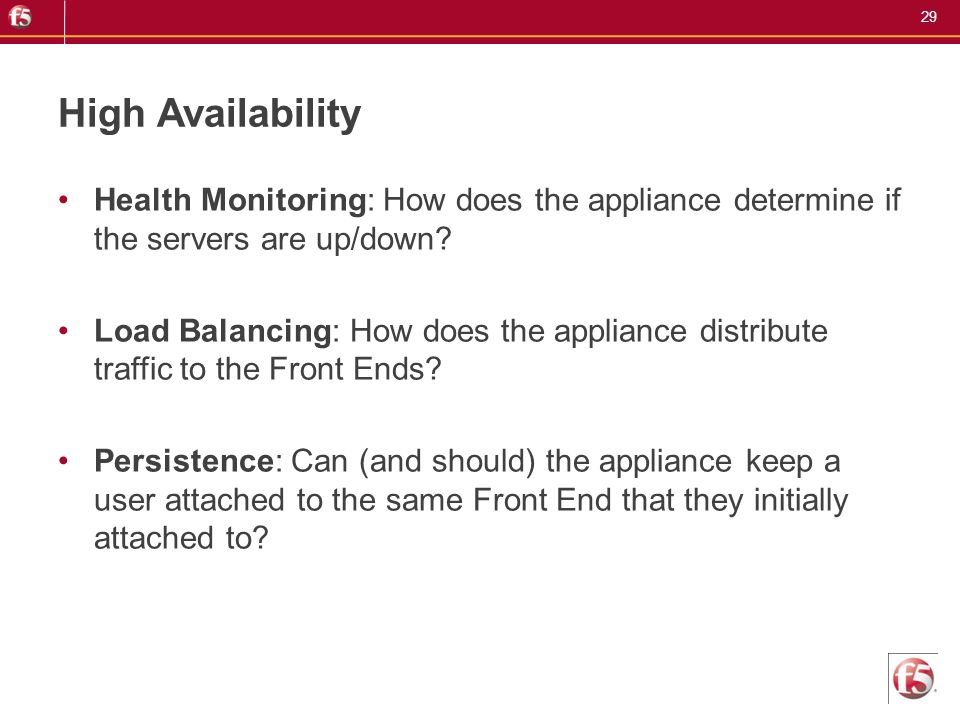 High Availability Health Monitoring: How does the appliance determine if the servers are up/down