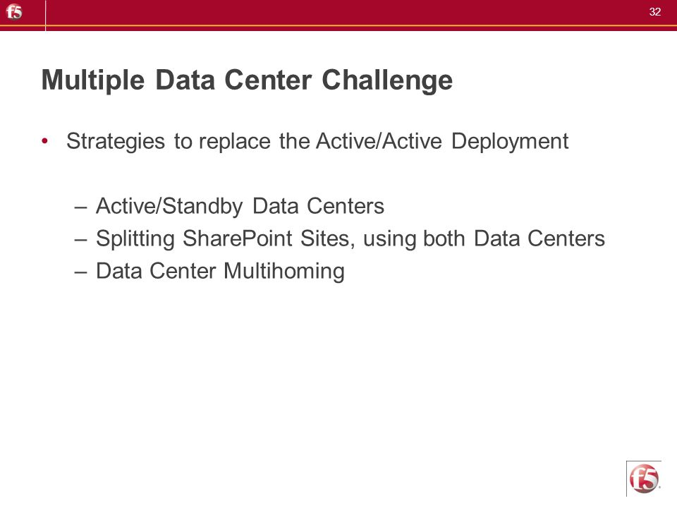 Multiple Data Center Challenge