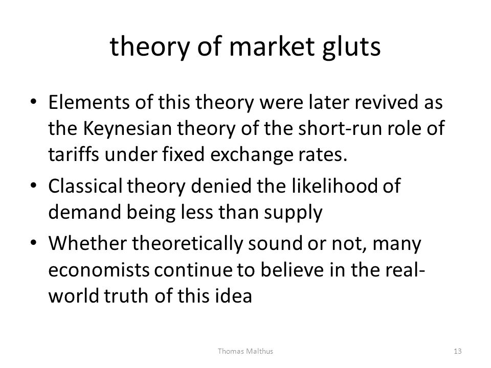 theory of market gluts