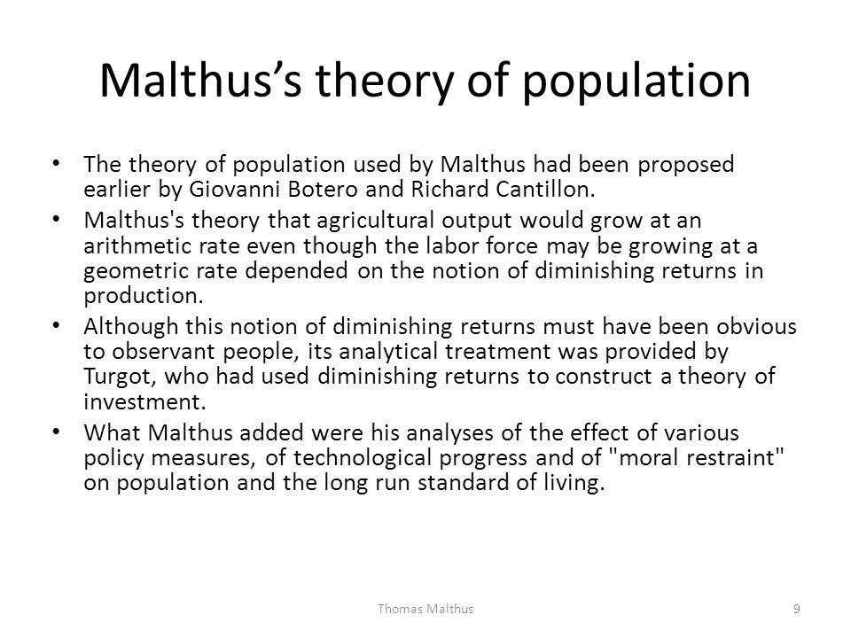 Malthus's theory of population
