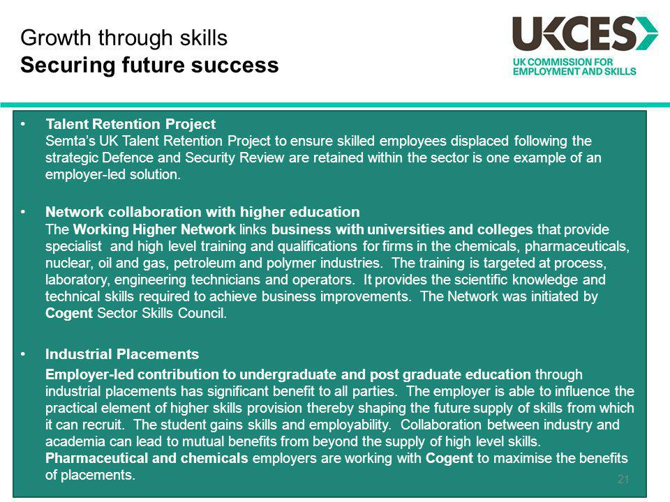 Growth through skills Securing future success