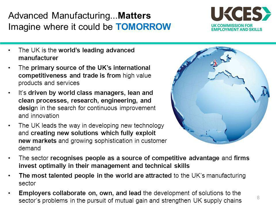 Advanced Manufacturing...Matters Imagine where it could be TOMORROW
