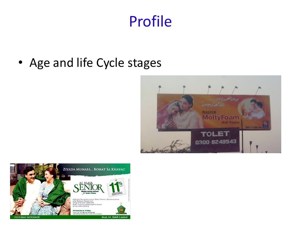 Profile Age and life Cycle stages