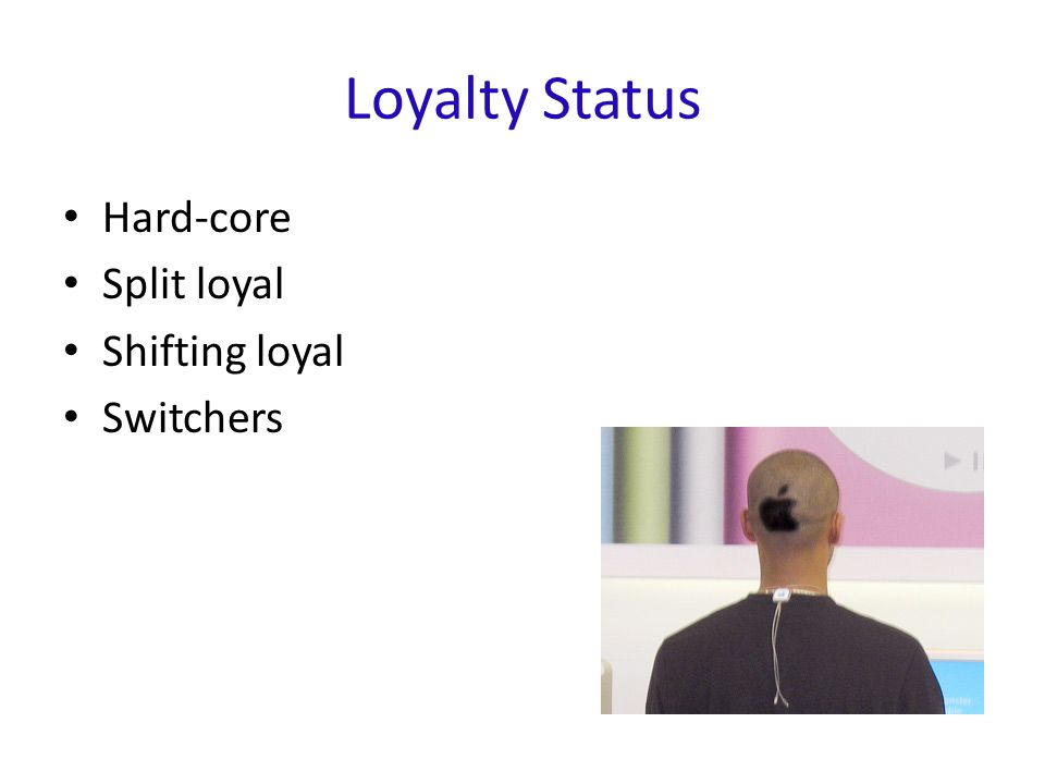 Loyalty Status Hard-core Split loyal Shifting loyal Switchers