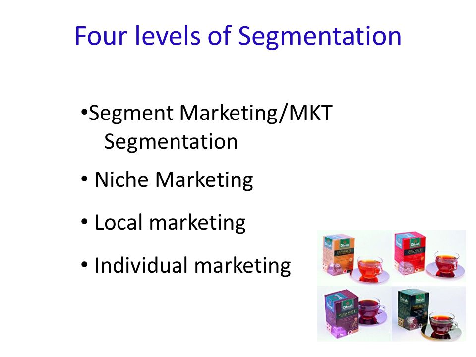Four levels of Segmentation