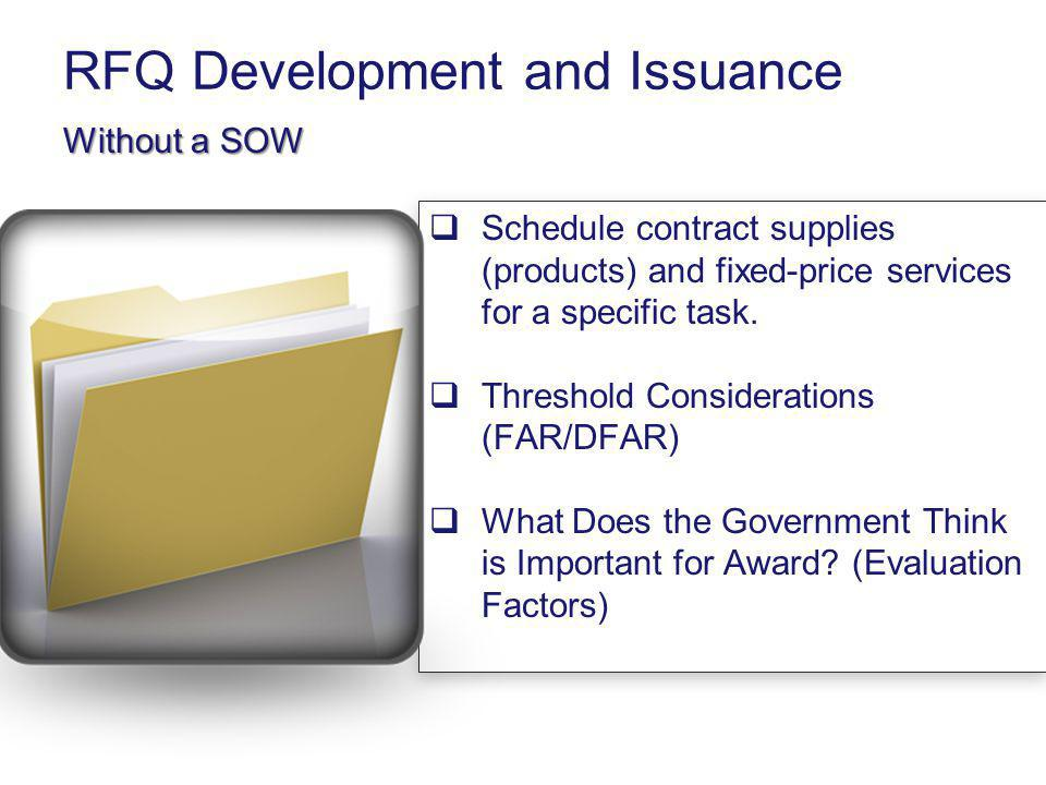 RFQ Development and Issuance