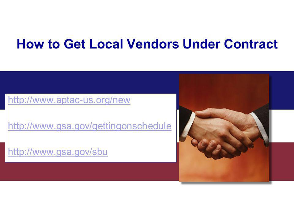 How to Get Local Vendors Under Contract