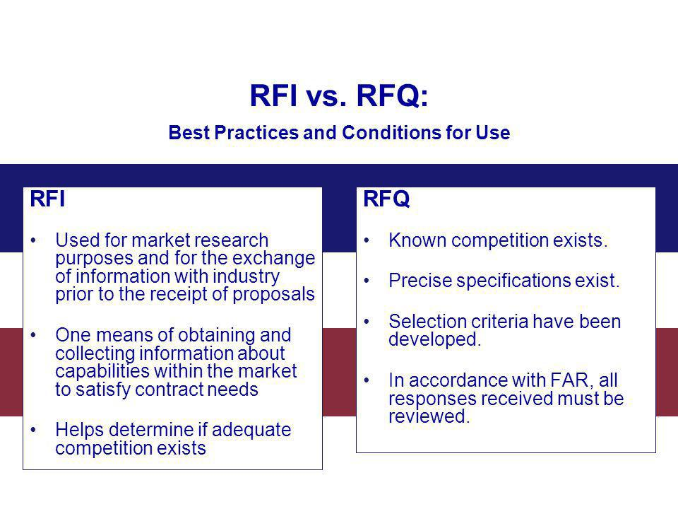 RFI vs. RFQ: Best Practices and Conditions for Use