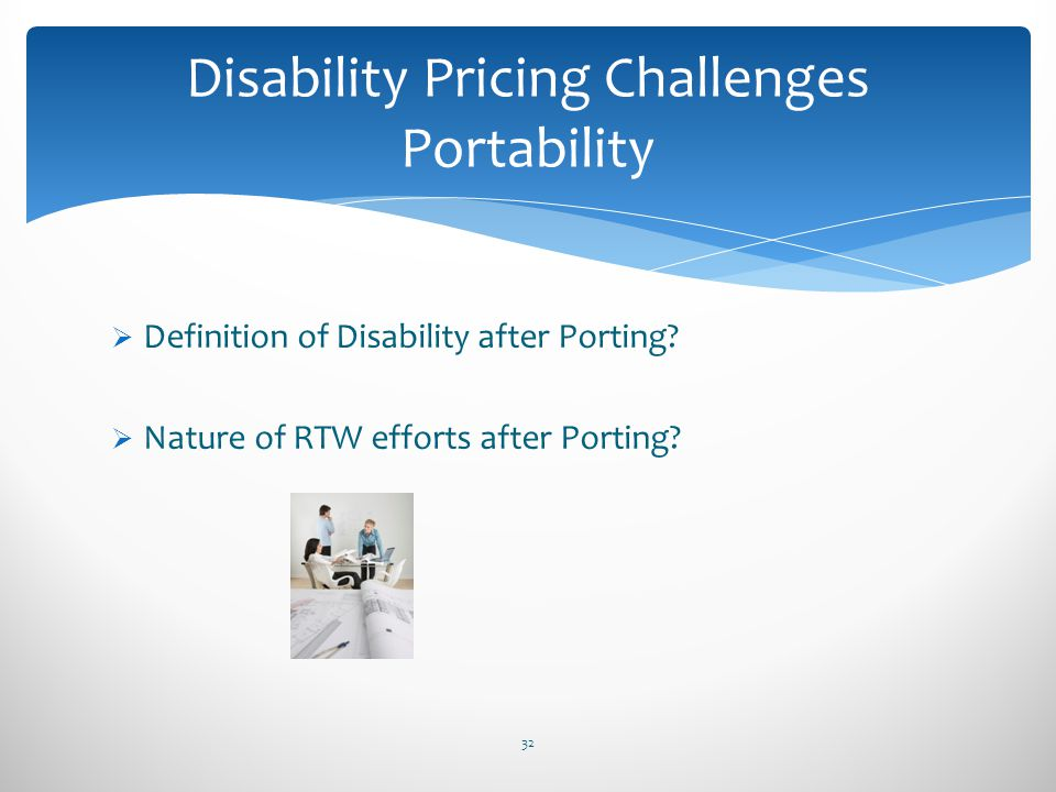 Disability Pricing Challenges Portability