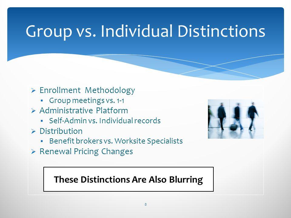 Group vs. Individual Distinctions