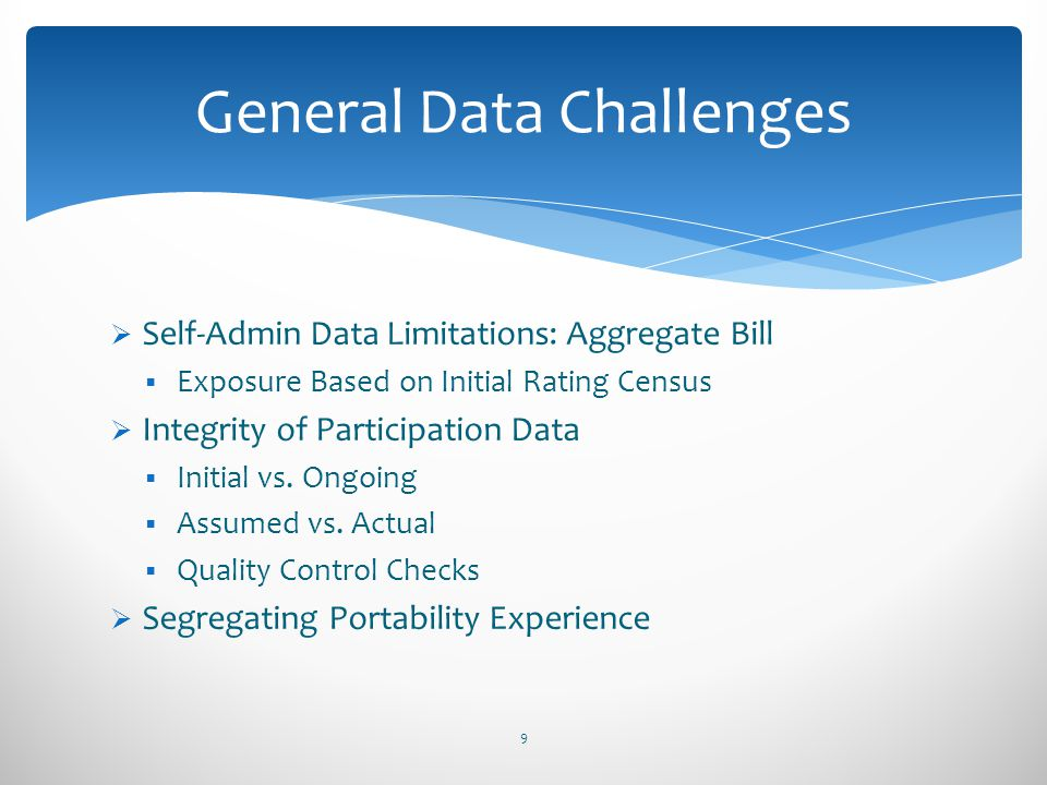General Data Challenges